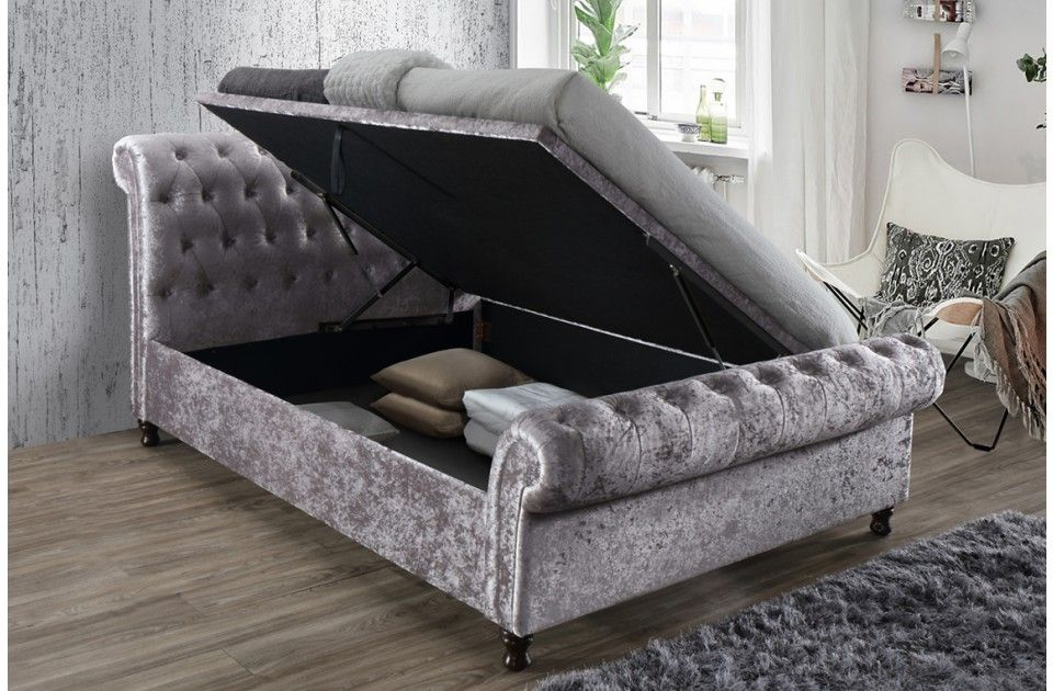 Castello Ottoman Sleigh Upholstered Bed