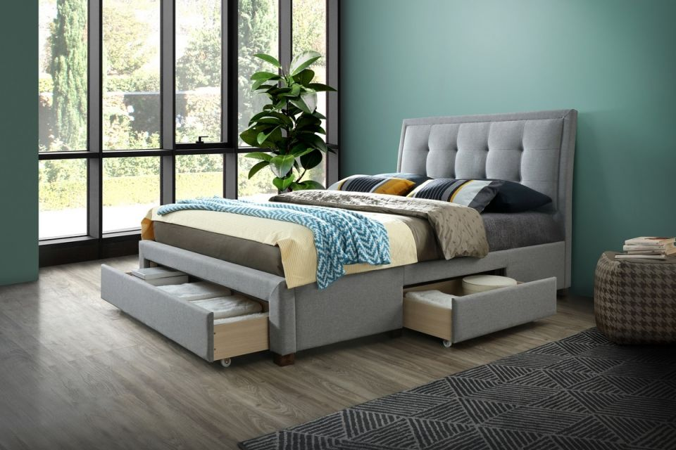 Shelby Upholstered Bed 3 Drawers