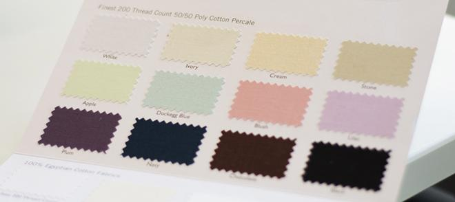 Fitted sheet colours