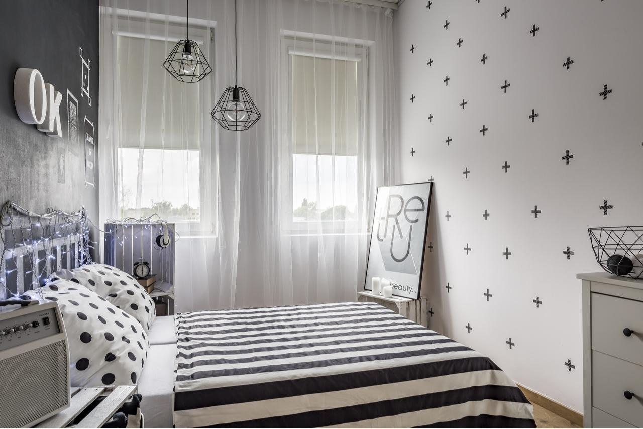 Bed with fairy lights