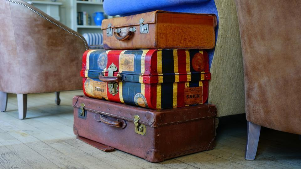 Old fashioned suitcase
