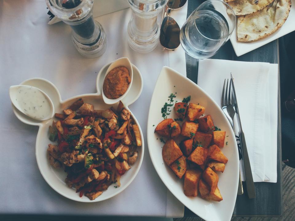 Roasted Vegetables on table