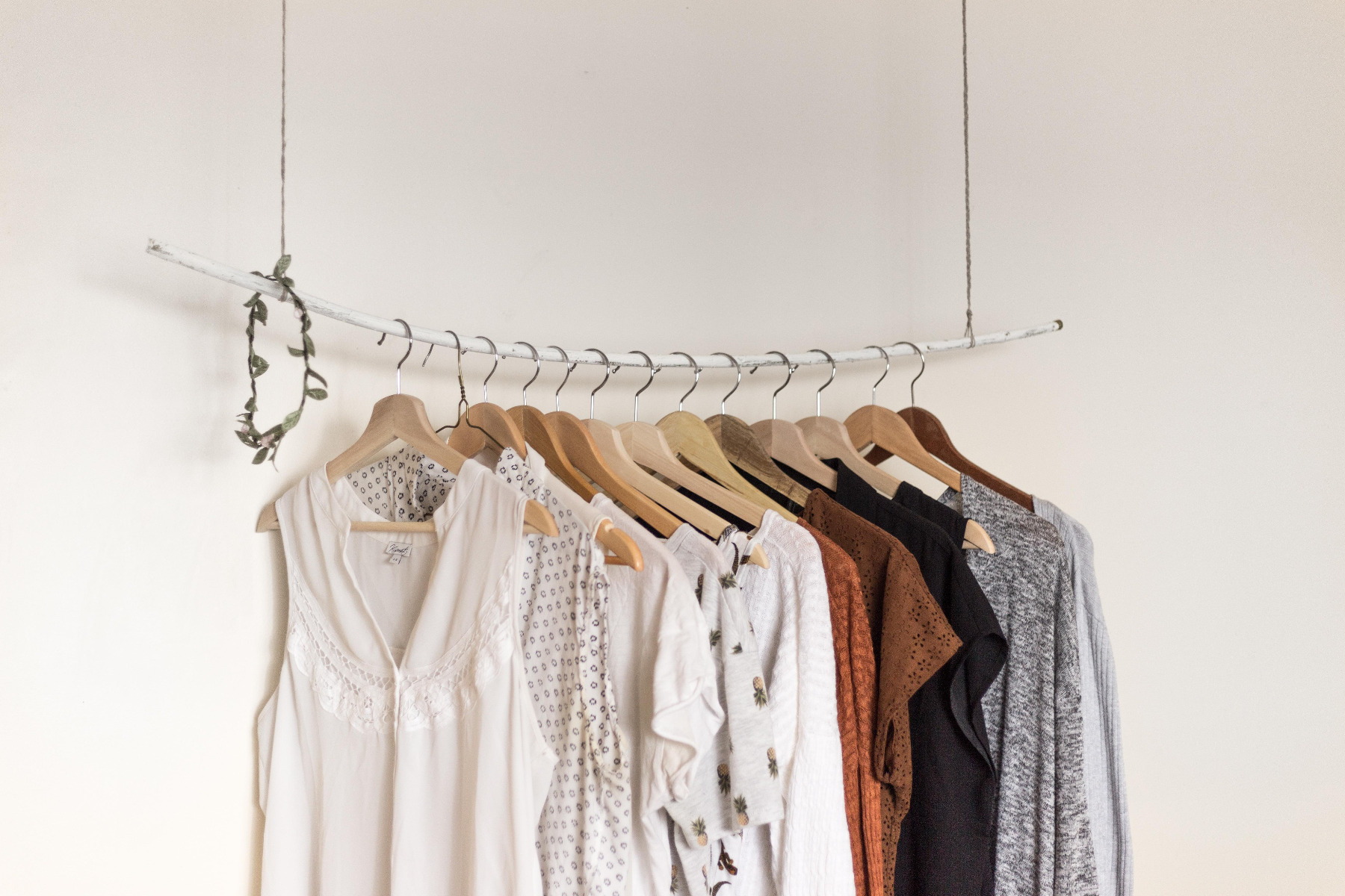 Open plan wardrobe